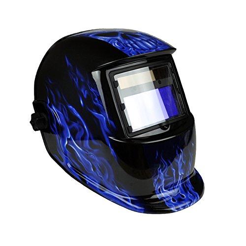 Instapark ADF Series GX-350S Solar Powered Auto Darkening Welding Helmet with Adjustable Shade Range #9 - #13