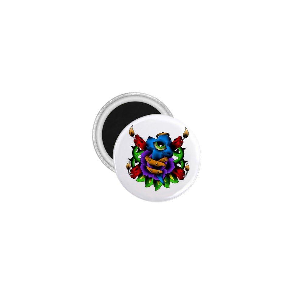 Tattoo Cross Eye Art Fridge Souvenir Magnet 2.25