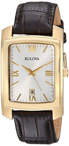 BULOVA Men's Quartz Stainless Steel and Leather Casual Wa...