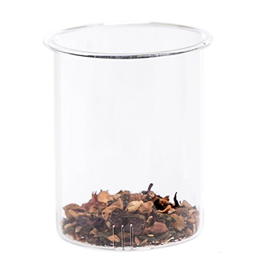 Teabloom Universal Replacement Teapot Glass Strainer - Fits most 34-40 oz Teapots - Teabloom Amore and Blooming Oasis Teapots Spare Part - Borosilicate Glass Teapot Filter / Strainer … (38 Glass Filter)