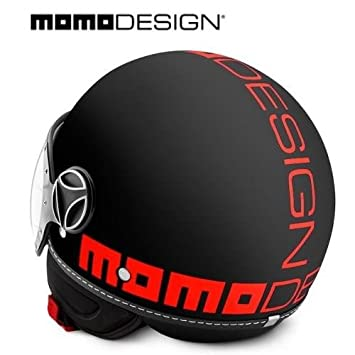 Momo Design Fighter - Casco para moto, talla S, color naranja y negro