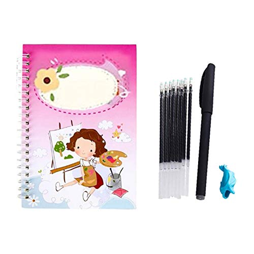 Reusable Calligraphy Copybook, Magic Calligraphy That Can Be Reused Handwriting Copybook Set for Kid Calligraphic Letter Writing BiuBuy (1PC-A)
