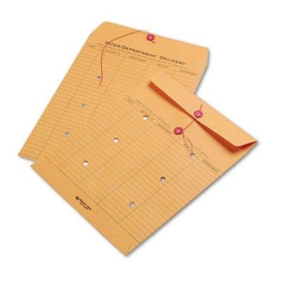 100//Carton Cirrus Brown Kraft Kraft String amp; Button Interoffice Envelope 10 x 13