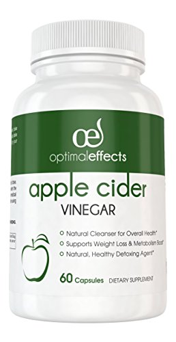 Pure Apple Cider Vinegar Capsules by Optimal Effects for Weight Loss, Detox, Digestion – All Natural Apple Cider Vinegar Capsules for Healthy Metabolism and Circulation Support – 60 Capsules Review