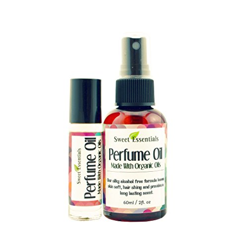Jasmine Vanilla - Fragrance / Perfume Oil - 2oz Made with Organic Oils - Spray on Perfume Oil - Alcohol & Preservative Free - Perfume Organic
