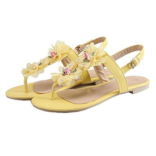 Coolcept Women Clip Toe Sandals Flats Yellow fssfW3h