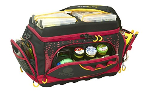 Plano KVD Signature Series 3700 Tackle Bag, Black Red Yellow