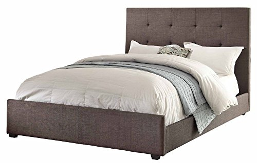 Homelegance 1890KN-1EK Eastern King Size Upholstered Bed, Grey (Home Elegance Platform Eastern King)