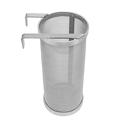 Hop Filter Spider Strainer Stainless steel Beer Mesh Strainer for Home brew Kegging equipment 300 Micron (Filter silver 1) by JoyBrew