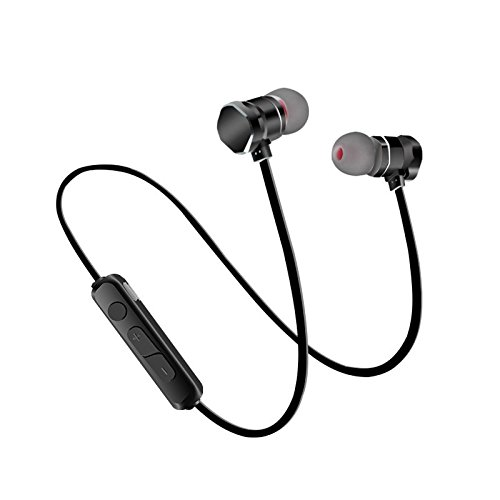 Feicuan Bluetooth Earphones Wireless Magnetic Stereo Headphone In-Ear Headset for Gym (Best Display Headsets For Running Gyms)