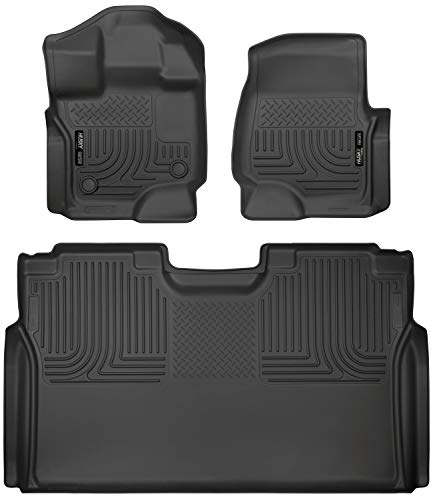 Husky Liners 94041 Combo Set Black Front and 2nd Seat Floor Liners Fits 2015-19 Ford F-150 SuperCrew