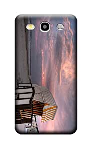 Fashionable Humorously Devised Beach And Glowing Clouds Durable Hard Plastic Case Cover For Samsung S3