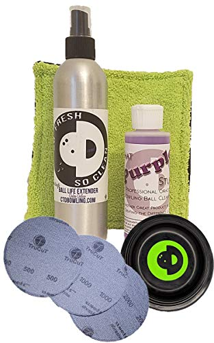 Creating the Difference Surface Management Kit | Bowling Ball Maintenance Kit | That Purple Stuff | So Fresh & So Clean | TruCut by CTD Sanding Pads 500, 1000, 2000 grit
