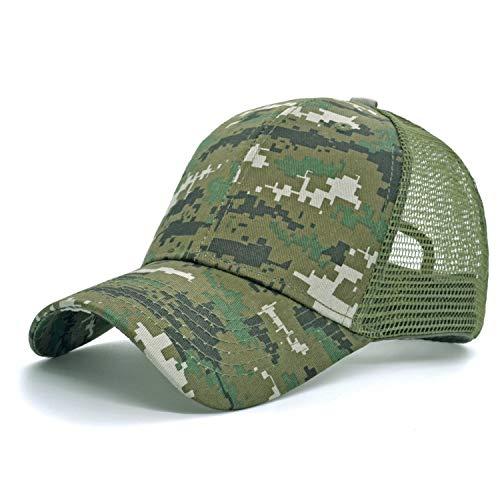 melitop005 Men's Summer Outdoor Sport Mesh Baseball Hat Running Visor Sun Cap Quick Dry Cooling Sun Hats Sports Caps (Camouflage A)