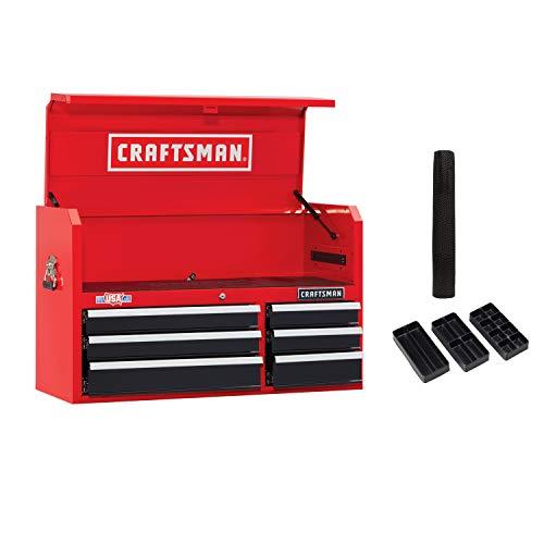 CRAFTSMAN Tool Chest, 41-Inch, 6 Drawer, Red (CMST82771RB) (Craftsman 6 Drawer Ball Bearing)