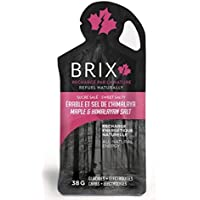 Brix Maple Syrup All-Natural Energy Gel 100% Pure (Maple & Himalayan Salt, 24 Count)