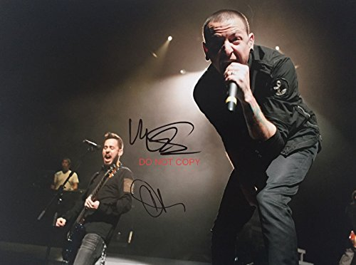Chester Bennington & Mike Shinoda of Linkin Park reprint signed 11x14 poster photo #3 RP