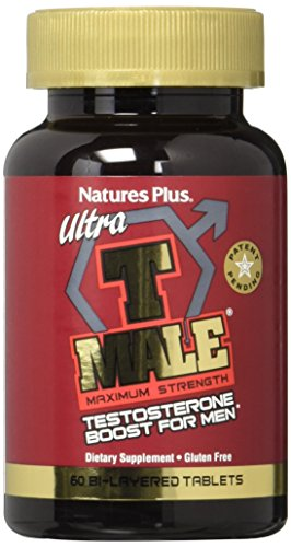 Plus 60 Tabs (Nature's Plus Ultra T-Male E/R Bi-Layer Tablets, 60 Count)