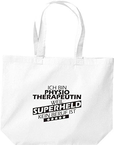 Shirtstown große Bolsa de compra, Estoy Terapista físico, weil Superheld sin Trabajo ist Blanco