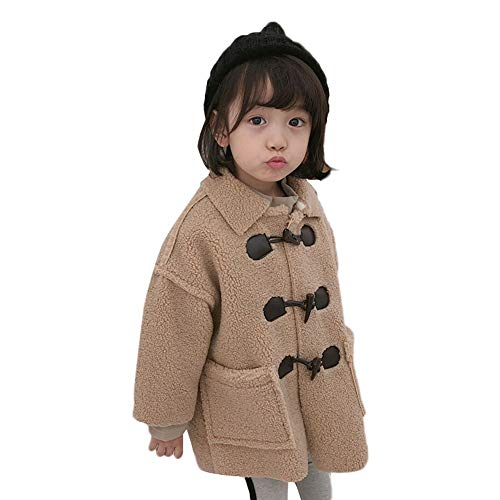 - Voberry Little Girls' Sherpa Jacket Toddler Baby Kids Girl Faux Shearling Shaggy Oversized Coat Jacket Outerwear with Pockets Warm Winter (2-3Years, Khaki)
