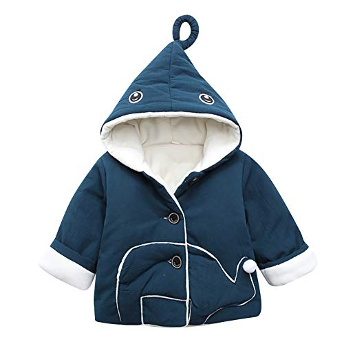 Jchen(TM) Clearance Kids Baby Little Girl Boy Winter Hooded Cartoon Eye Coat Jacket Thick Warm Outerwear for 0-3 Y (Age: 6-12 Months, Blue) by Jchen Baby Coat