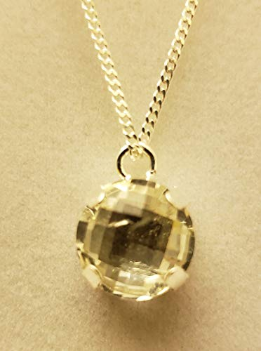 (Natural Lemon Topaz Necklace)