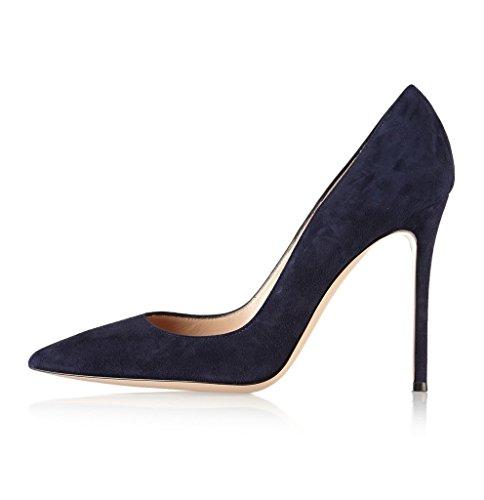Suedenavy Chaussures Soiree Edefs Aiguille Bout Taille À Escarpins Talons Grande Fete Vernis Pu Pointu Femme Cuir Hauts tqaOw