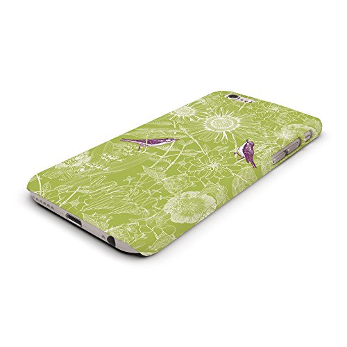 Koveru Back Cover Case for Apple iPhone 6 - Green Twinkle Flowers