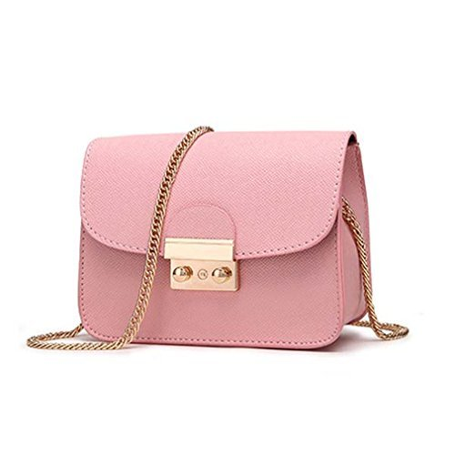BAGGS PU Leather Messenger Bag Clutch Bags Mini Shoulder Bag Women Handbag Hot Sale Purse pink
