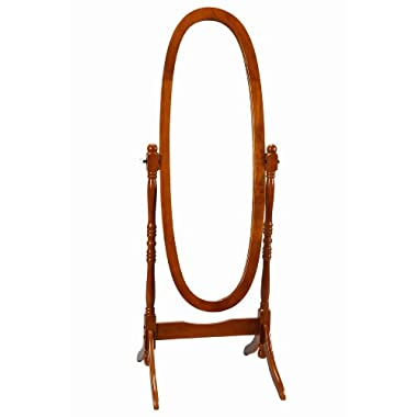 Frenchi Home Furnishing Wooden Cheval/Floor Mirror, Oak Finish