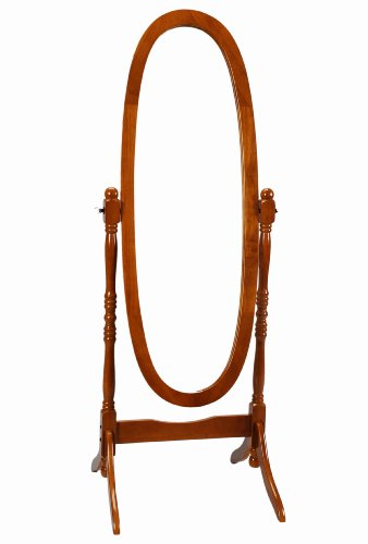 Frenchi Home Furnishing Wooden Cheval/Floor Mirror, Oak (Cherry Oak Swing)