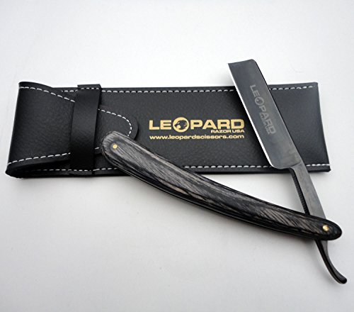 Like Shave Ready Vintage Straight Cut Throat Shaving Razor Carbon Steel Open Razor New Handmade Black Wood Handle Black Blade R-606