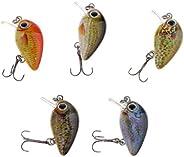5Pcs Plastic Fishing Lures Hard Bait Lifelike Micro Crankbait Bass Pike Minnow Baits 2.7cm/1.5g