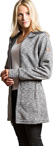 Overland Sheepskin Co Aurora Hooded Italian Wool-Blend Fleece Jacket (Aurora Fleece)