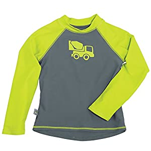 Sun Smarties Long Sleeve Truck Rash Guard Breathable Lined T-Shirt 12M Gray