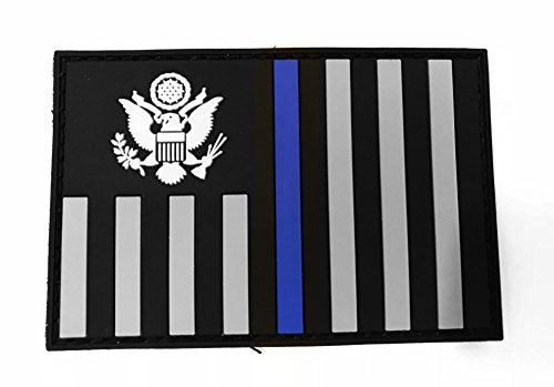 Stevens Tactical Shop Subdued Thin Blue Line US Customs and Border Protection Ensign Flag PVC Patch