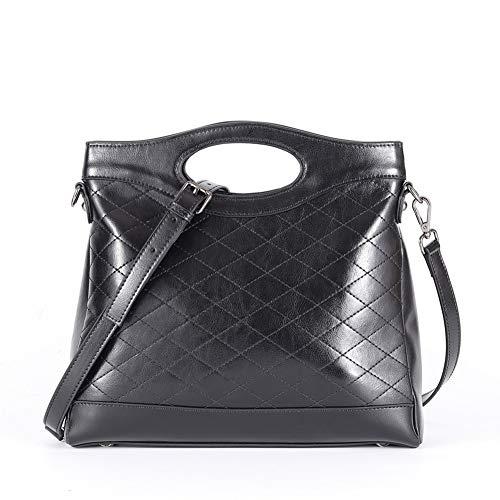 2a77906cf2 Lecxci Womens Genuine Leather Clutch Handbags Shoulder Crossbody Bags for  Women Teen Girls (Black 1