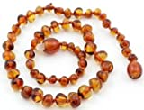 The Original Art of CureTM *SAFETY KNOTTED* Chestnut – Baltic Amber Baby Teething Necklace w/ Jewelry Pouch, Baby & Kids Zone