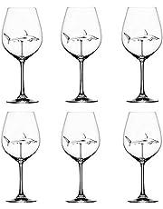 Godob Rödvinsglas med haj inuti bägarglas blyfritt klart glas för hem bar fest