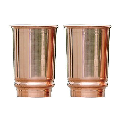 Pure Copper Tumbler Set of 2 | Traveller's Copper Mug for Serving Water by HealthGoodsIn | 350 Ml (11.8 US Fluid Ounce) Capacity | Made of 99.5% Copper by HealthGoodsIn