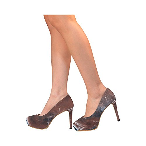 Jeans Di Fiore Di Interestprint Womens Sexy Tacchi Alti Pompa Scarpe Cielo Nella Costellazione Di Orione
