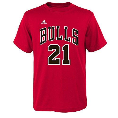 Chicago Bulls Jimmy Butler 21 Youth Player T-Shirt Size: Youth Medium