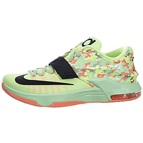 Nike Men\u0027s KD VII, LIQUID LIME/BLACK-VAPOR GREEN-SUNSET GLOW, 13 M US