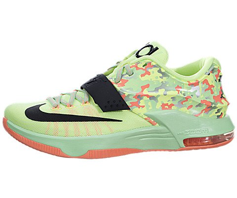 NIKE KD VII Mens Basketball Trainers 653996 Sneakers Shoes Kevin Durant (UK 7.5 US 8.5 EU 42, Liquid Lime Black Viper Green Sunset Glow 304)