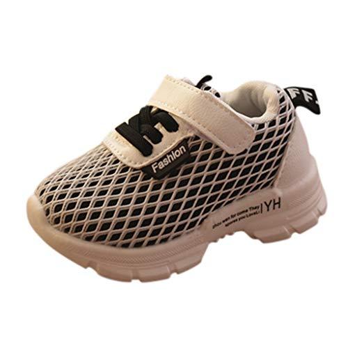 (RAINED-Toddler Little Kids Hook and Loop Running Shoe Boys Girls Mesh Breathable Sneaker Fashion Platform Athletic Shoes Black)