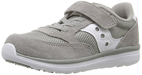 Saucony Baby Jazz Lite Sneaker (Toddler/Little Kid/Big Kid), Grey/White, 8 W US Toddler