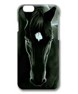6 4.7 Case, Black and White Horse Slim Fit Case for iphone 6 4.7 3D PC Material