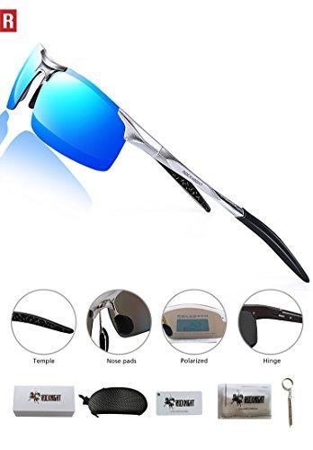 25e26c6368 ROCKNIGHT Driving Polarized Sunglasses for Men UV Protection Mirrored Sunglasses  Ultra Lightweight Al-Mg Metal