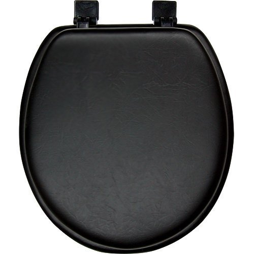 black padded soft toilet seat