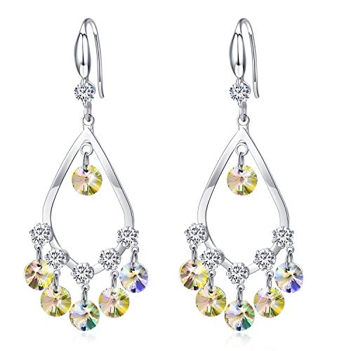 Tacther.H Women Swarovski Crystals Dangle Hook Earrings Sterling Silver Jewelry Gift for Her ()